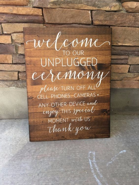 classy wooden welcome sign